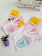 Комплект постельного белья для мебели NestWood (ДЕТСКАЯ) в кукольный домик для Барби, 6 ед., фото 4
