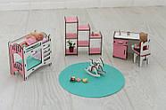 Комплект постельного белья для мебели NestWood (ДЕТСКАЯ) в кукольный домик для Барби, 6 ед., фото 5