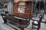 Стол деревянный дачный 1400*800 для кафе, баров, ресторанов от производителя, фото 2