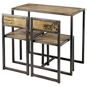 Барный комплект стол + 2 стулья в стиле LOFT (Bar Table - 18)