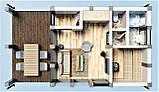 Баня фахверковая 5.0х9.0 м. Кредитование строительства деревянных бань, фото 4