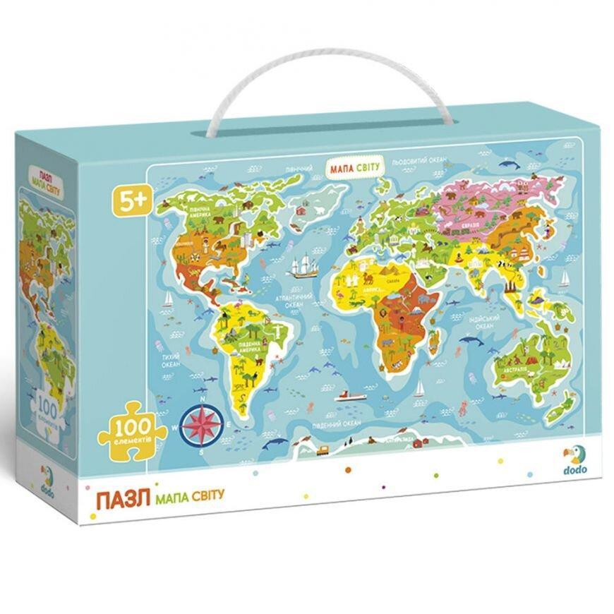 Пазл Мапа Світу (українською мовою) Dodo (цікава географія) 300110/100110
