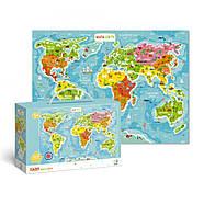 Пазл Мапа Світу (українською мовою) Dodo (цікава географія) 300110/100110, фото 2