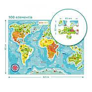 Пазл Мапа Світу (українською мовою) Dodo (цікава географія) 300110/100110, фото 4
