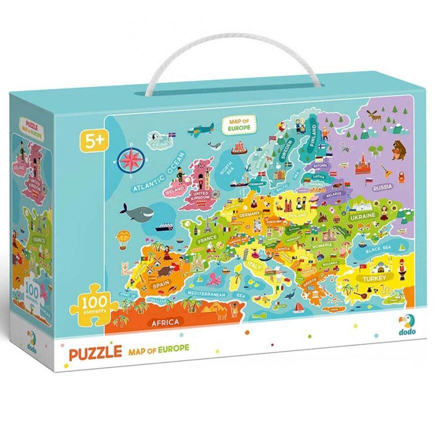 Пазл Мапа Європи (англійською мовою) Dodo (цікава географія) 300124
