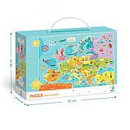 Пазл Мапа Європи (англійською мовою) Dodo (цікава географія) 300124, фото 3