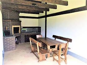Садовая мебель из массива дерева 1600х800 от производителя для дачи, кафе, комплект Furniture set - 37