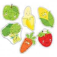 Пазл 2-3-4 елементи Фрукти та Овочі Dodo (пазли для найменших) 300155, фото 2