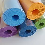 Коврик йогамат для йоги и фитнеса MS 0615 голубой, фото 2