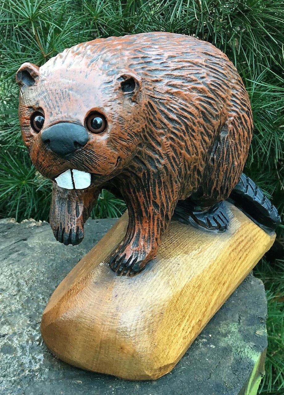 Скульптури з дерева тварин, ручна різьба по дереву (Hand Carved Artwork 04)