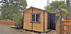 Пост охраны деревянный утеплённый 3,0х2,4 м