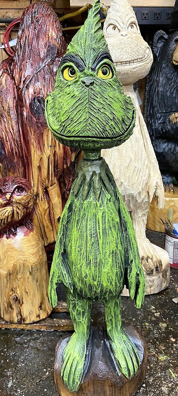 Скульптуры из дерева сказочных персонажей, ручная резьба по дереву (Hand Carved Artwork 13)