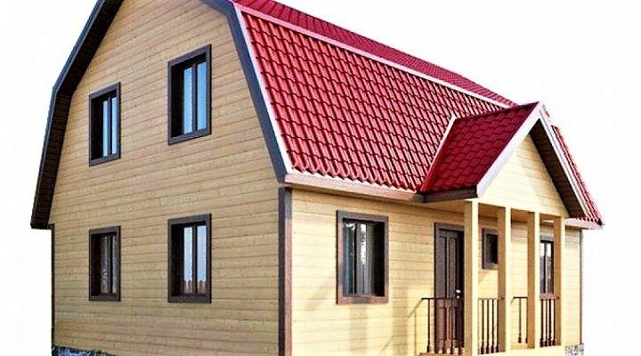 Дом из профилированного клееного бруса 7×9 м