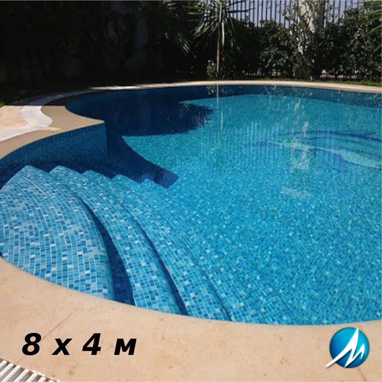 Оздоблення мозаїкою бетонної чаші басейну 8 х 4 м