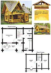 Проект будинку з оциліндрованої колоди 87,1 м2. Проект будинку безкоштовно при замовленні будівництва