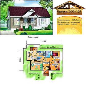 Проект каркасно-щитового дома 78 м2. Проект дома бесплатно при заказе строительства