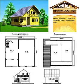 Проект дома из профилированного бруса 67 м2. Проект дома бесплатно при заказе строительства