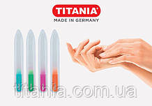 Маникюрная стеклянная двухсторонняя пилочка цветнаяв блистерной упаковке TITANIA art.1251B