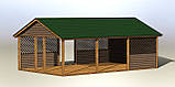 Деревянный павильон шатер для торговли, детских площадок, дачи 5,0х8,0 м, фото 5