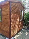 Дерев'яний будиночок охорони 3,0х2,4 м, фото 6