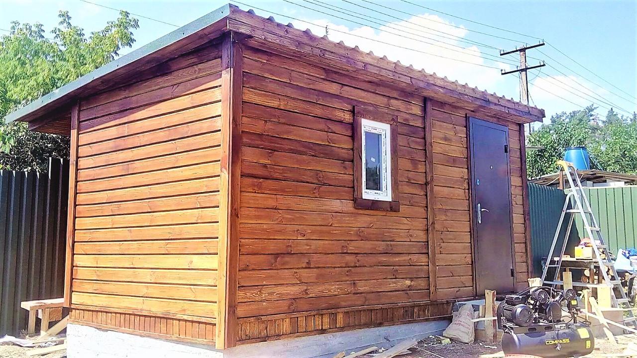 Бытовка деревянная 5х2.5 м утеплённая