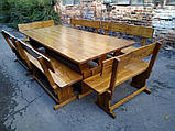 Комплект меблів з натурального дерева для ресторану 2700*1200 від виробника, фото 4