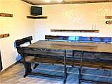 Комплект мебели из натурального дерева для ресторана 3000*1200 от производителя, фото 4
