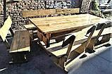 Комплект мебели из натурального дерева для ресторана 3000*1200 от производителя, фото 7