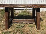 Меблі під старовину в альтанку з масиву зістареного дерева від виробника, фото 10
