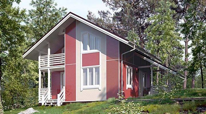 Будинок з профільованого клеєного бруса 7х7 м