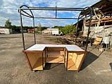 Торгівельна ятка 1,5х2,5 м. металевий Каркас, обшивка дерев'яна яна, пересувні на коліщатах, фото 2