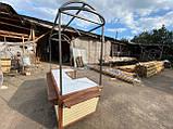 Торгівельна ятка 1,5х2,5 м. металевий Каркас, обшивка дерев'яна яна, пересувні на коліщатах, фото 3