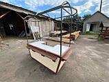 Торгівельна ятка 1,5х2,5 м. металевий Каркас, обшивка дерев'яна яна, пересувні на коліщатах, фото 7