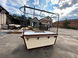 Торгівельна ятка 1,5х2,5 м. металевий Каркас, обшивка дерев'яна яна, пересувні на коліщатах, фото 8