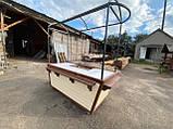 Торгівельна ятка 1,5х2,5 м. металевий Каркас, обшивка дерев'яна яна, пересувні на коліщатах, фото 9