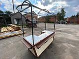 Торгівельна ятка 1,5х2,5 м. металевий Каркас, обшивка дерев'яна яна, пересувні на коліщатах, фото 10