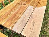 Деревянный стол из массива древесины 2000*1000 + 6 лавок от производителя, фото 4