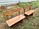 Деревянный стол из массива древесины 2000*1000 + 6 лавок от производителя, фото 8
