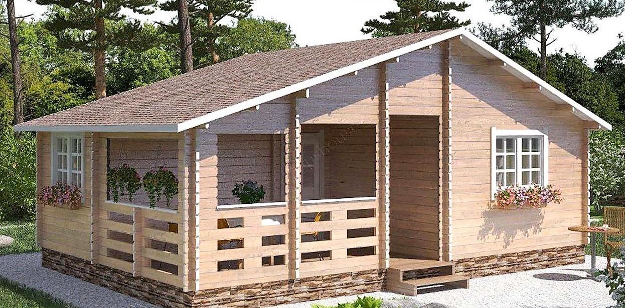Домик садовый из профилированного бруса 5,5x8,0 м