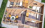 Домик садовый из профилированного бруса 5,5x8,0 м, фото 3