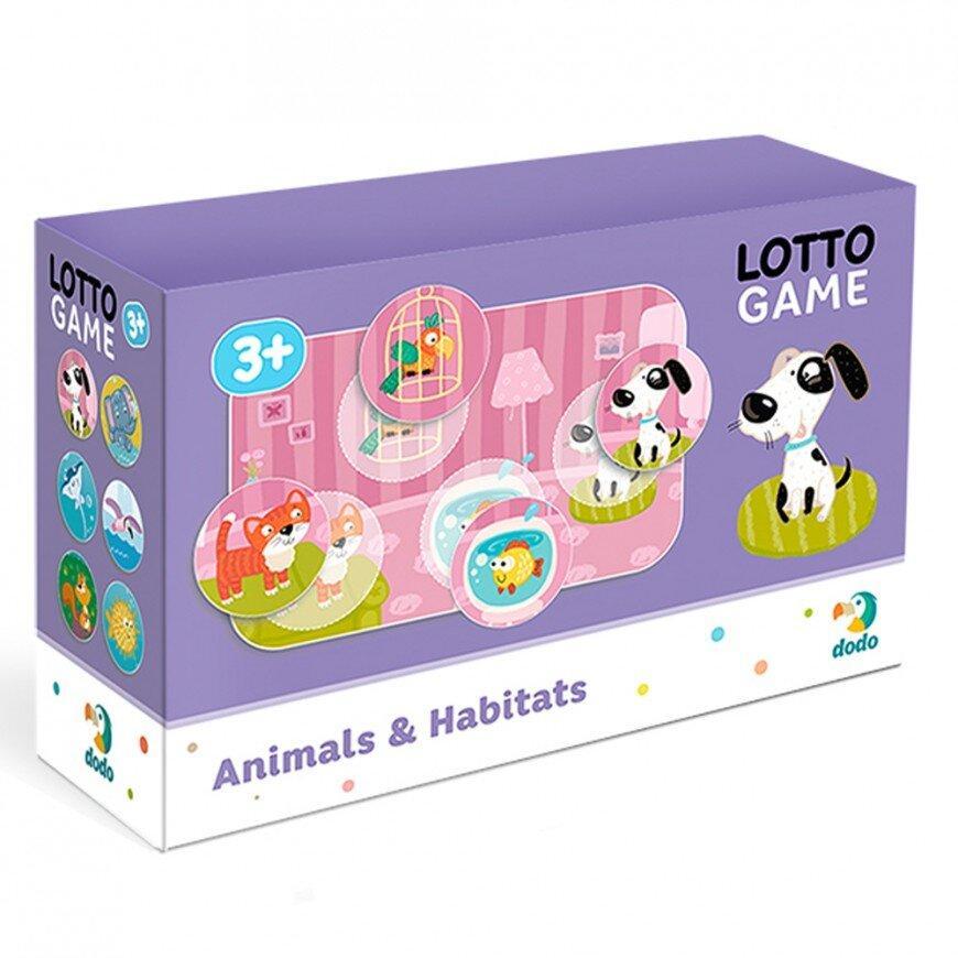 Настільна Гра Лото Тварини та їх середовище існування Dodo (лото з улюбленими тваринками) 300196