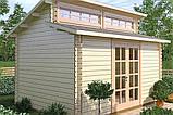 Домик садовый из профилированного бруса 3,4x4,5 м, фото 2
