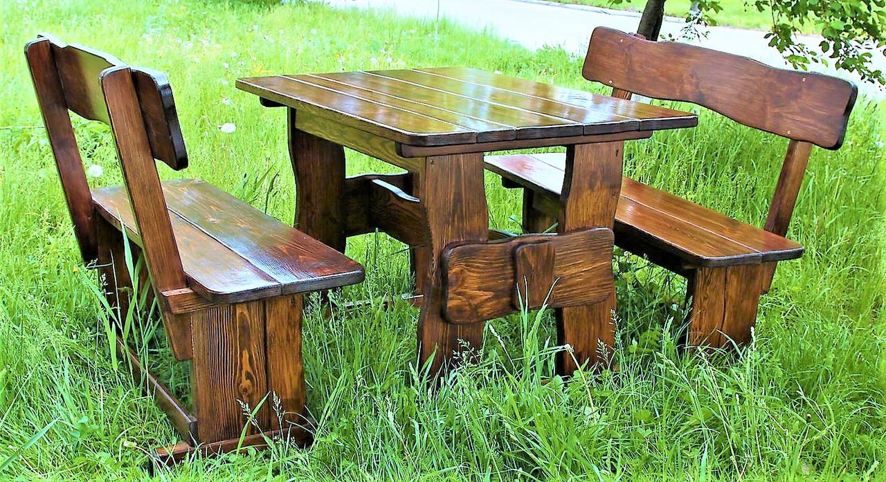 Комплект деревянной мебели 1100*800 для кафе, дачи от производителя Буча