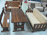 Лавочка, лавка, скамейка деревянная 2000*370 для дачи, кафе от производителя, фото 2