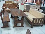 Лавочка, лавка, скамейка деревянная 2000*370 для дачи, кафе от производителя, фото 3