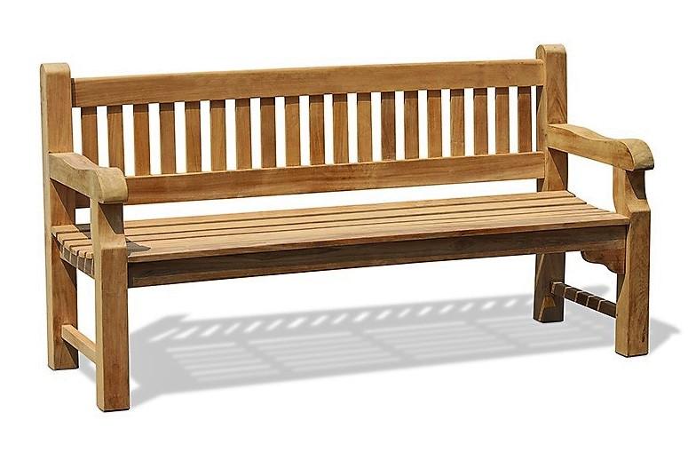 Лавочка скамья со спинкой 1800 х 690 мм от производителя Garden park bench 02