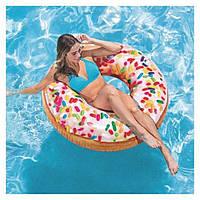"""Надувной круг """"Пончик с присыпкой"""" Intex 56263 (114см)"""