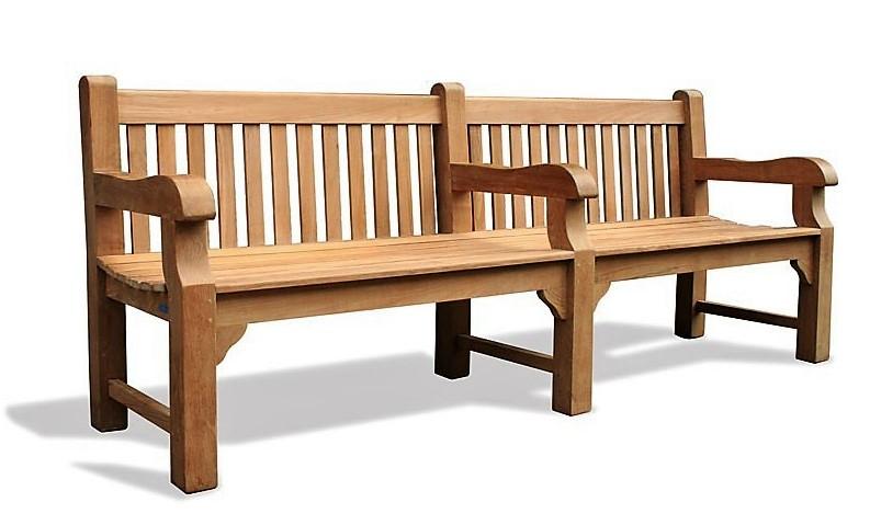 Лавка, лава зі спинкою 2240 х 580 мм від виробника Garden park bench 23