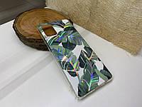 Чехол Leaves с принтом Samsung Galaxy A71