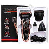 Беспроводная Аккумуляторная сетчатая бритва, Триммер для бороды 3в1 ProGemei GM-595